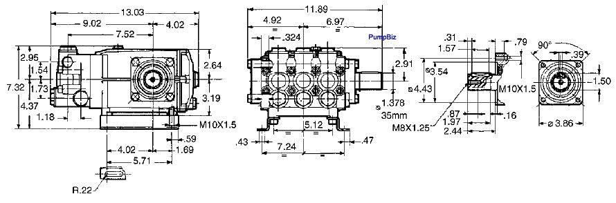 T 69 Triplex Plunger 11.8hp