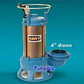 3 BST Out Double Mech Seal 220V at 50 Hz AMT 5763-95B CI Submersible Shredder Sewage Pump 2 hp