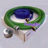 PumpBiz SHKT15 1 1/2 inch NPT (M  F) PVC Suction Hose Kit--Econo