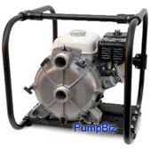 "solids handling 3"" pump honda engine"
