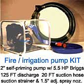 Pacer 213 Deluxe Fire Hose Kit