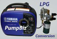 Yamaha EF2000iSvx LPG Propane generator 2KW