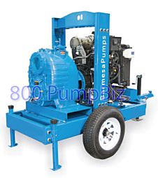 "6"" diesel trash pump SH6-R/N-4TNV98C trailer mounted"