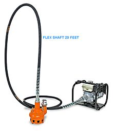 Gas Submersible Trash pump flexible shaft drive