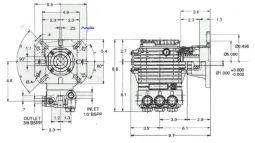 EZ 44 3plex 12.4hp Hollow Shaft