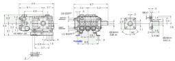 EZ 44 3plex 8.6hp Solid Shaft
