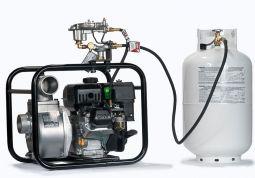 koshin dewatering pump propane lp powered