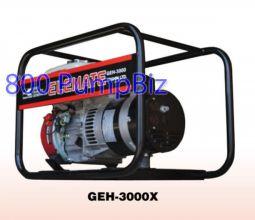 Koshin - GEH-3000X: 3KW Gas Generator