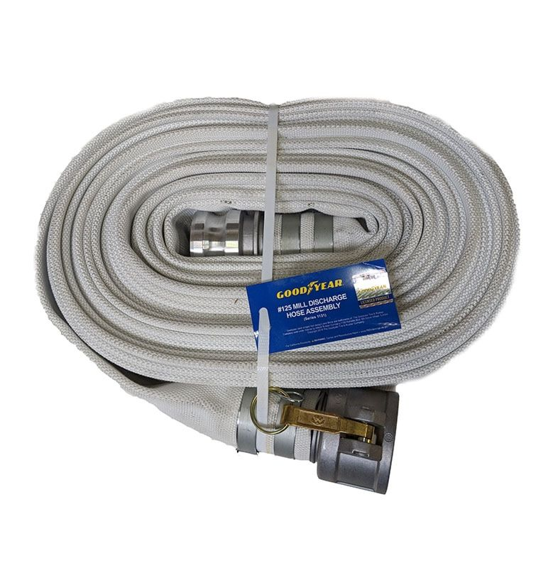 """mill fire discharge hose 1131 2"""" goodyear"""
