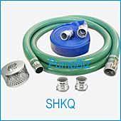 PumpBiz SHKQ15 1 1/2 inch Quick Coupling  PVC Suction Hose Kit--Econo
