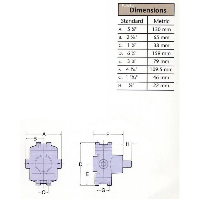 Hypro 5330C-CHX Small Twin Piston Pump