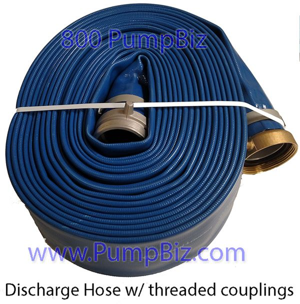 "PumpBiz - HO3X50DIS: 3"" x 50' Collapsible Discharge Hose"