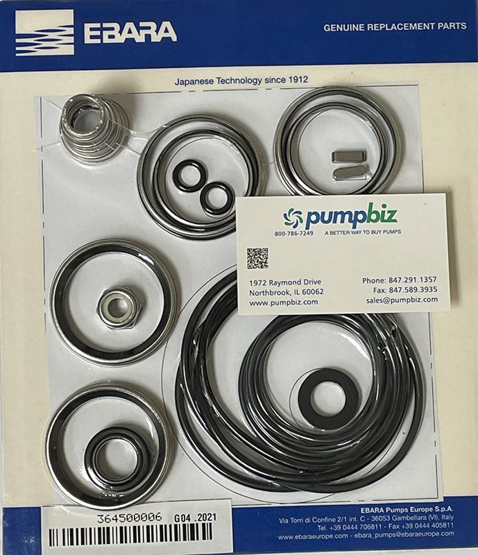 ebara pump seal kit replacement parts 364500006 2CDX