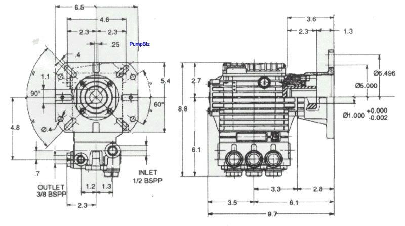 EZ 44 3plex 10.8hp Hollow Shaft