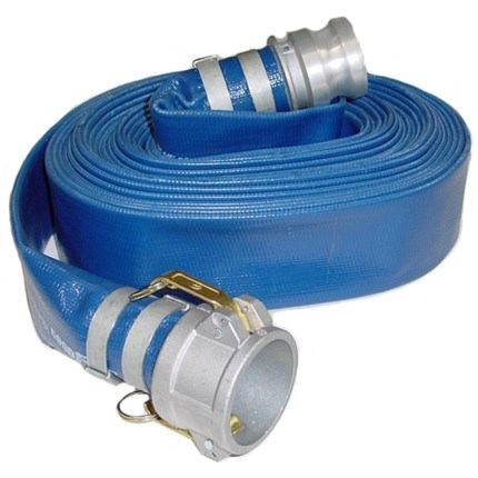 1145-4000-100 CE blue lay flat water discharge hose