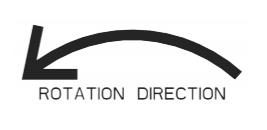 pump rotation arrow indicator